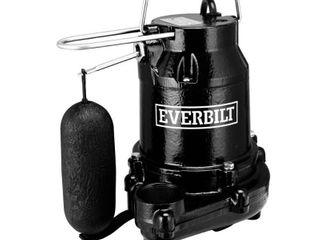 Everbilt 1 2 HP Cast Iron Sump Pump Retail   115 19