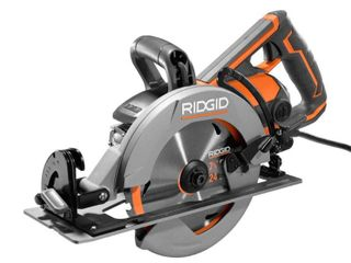 Rigid R32104 Thrucool 15 Amp 7 1 4 Inch Worm Drive Circular Saw with Cast Aluminum Base  New Open Box