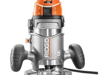 RIDGID 11 Amp 2 HP 1 2 in  Corded Fixed Base Router