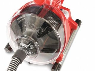 Ridgid Drain Cleaning Machine Includes Hose Extension  Clear Cover 55808 Retail Price  169
