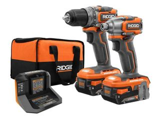 RIDGID 18V Brushless SubCompact Drill Driver and Impact Driver Combo Kit with Charger and Bag