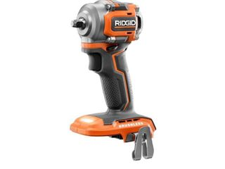RIDGID 18 Volt SubCompact lithium Ion Cordless Brushless 3 8 in  Impact Wrench  Tool Only  with Belt Clip