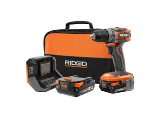 RIDGID 18V Brushless SubCompact Cordless 1 2 in  Drill Driver Kit with  2  2 0 Ah Battery  Charger and Bag