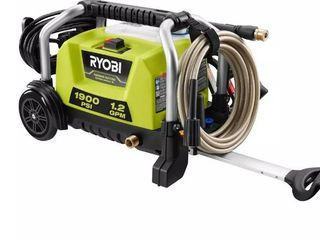 RYOBI 1900 PSI 1 2 GPM Cold Water Wheeled Electric Pressure Washer Retail Price  149