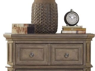 liberty Furniture The laurels Two Drawer Nightstand in Weathered Stone   675 99