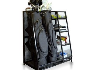 Milliard Golf Organizer   Extra large Size   Fit 2 Golf Bags and Other Golfing Equipment This Handy Storage Rack