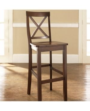 Crosley Furniture X Back Bar Stool with 30  Seat Height  2pk