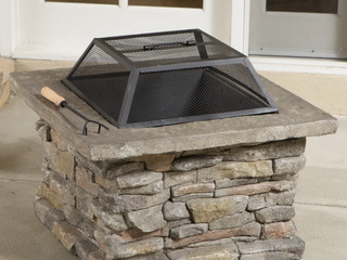 Corporal Square Fire Pit by Christopher Knight Home   309 99 Retail