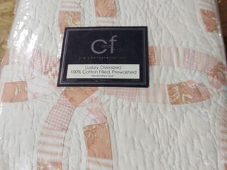 C   F luxury Oversized 100  Cotton Quilt   King