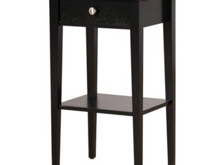 Dalton 1 drawer and Shelf Wooden Nightstand  Black  Retail 133 49