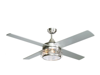 52 inch Satin Nickel 4 Blades Ceiling Fan with Remote