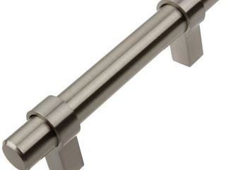 GlideRite 3 inch CC Solid Stainless Steel Finish Euro Cabinet Bar Pulls  Pack of 10