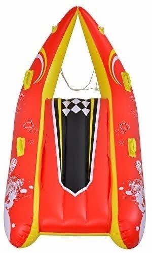 Blue Wave Sports Power Glider 2 Person Inflatable Snow Sled  57 Inch  Red Yellow  Retail   49 99