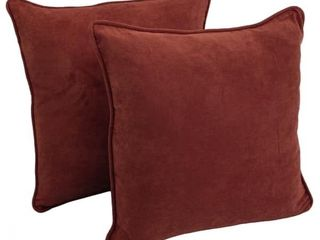 Copper Grove Ashley 25 inch Corded Microsuede Floor Pillow  Set of 2    Red Wine  retail   65 98