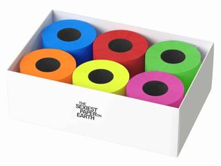 luxury Colored Toilet Paper 6 Rolls Gift Box 3 Ply Multicolored  retail    45 99