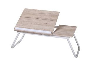 DesignStyles laptop Tray Table with Foldable legs   White