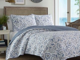 Twin Cape Verde Quilt   Sham Set Smoke Blue   Tommy Bahama