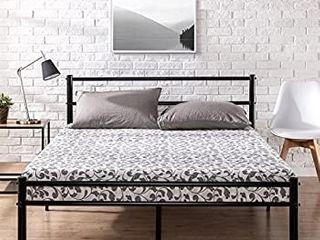 Zinus Geraldine Metal Platform Bed Frame With Headboard And Footboard   Twin