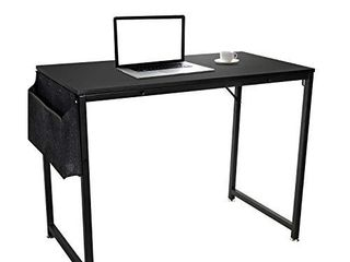 Computer Desk 55  Home Office Writing Study Desk  Modern Simple Style laptop Table with Storage Bag Workstation Table for Home Office Blackui