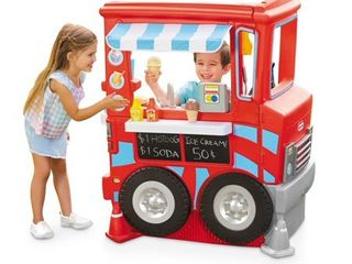 little Tikes 2 in 1 Food Truck Play Kitchen with 20 Piece Accessory Play Set