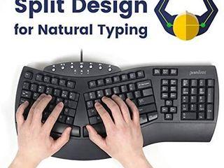 Perixx Periboard 512 Ergonomic Split Keyboard   Natural Ergonomic Design   Black   Bulky Size 19 09 x9 29 x1 73  US English layout