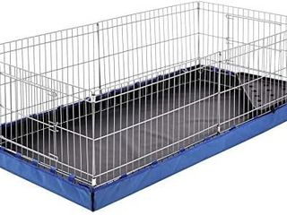 Indoor outdoor Small Pet Habitat Cage With Canvas Bottom  Blue