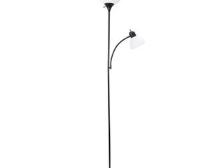 Simple Designs Floor lamp with Reading light  Black