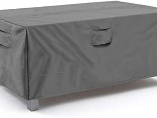 Vailge Veranda Rectangular Oval Patio Table Cover  Heavy Duty and Waterproof Outdoor lawn Patio Furniture Covers  large Grey