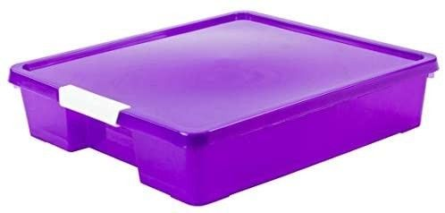 Storex Classroom Student Project Box  12 x 12 Inches  Tint Purple  2 Pack  63206U05C