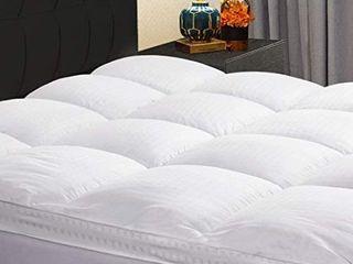KARRISM Extra Thick Mattress Topper  Cooling Mattress Pad Cover Topper  400TC Cotton Pillow Top  8 21Inch Deep Pocket