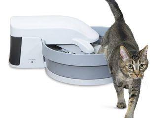 PetSafe Simply Clean Cat litter Box  Medium  Grey   Off White