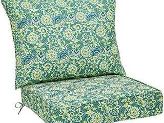 Amazonbasics Deep Seat Patio Seat Cushion  Blue Flower