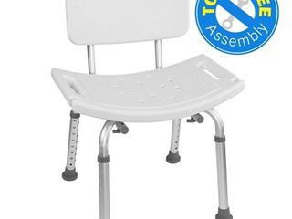 Vaunn Medical Tool Free Assembly Spa Bathtub Adjustable Shower Chair Seat Bench with Removable Back