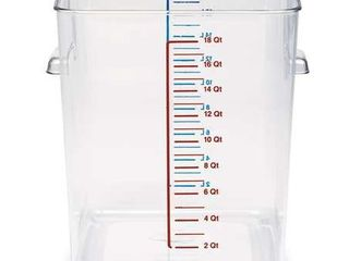 Rubbermaid Commercial FG631800ClR Space Saving Container  18 Quart Capacity