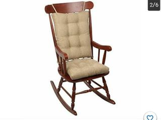 Out west Rocking Chair Pad Set  Seat  17 x 17 x 3 inch Seat Back  17 x 23 x 3 i