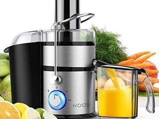 KOIOS Centrifugal Juicer Machines  Juice Extractor with Big Mouth 3a Feed Chute  304 Stainless steel Fliter  Best Seller Juicer 2020  High Juice yield  Easy to Clean 100  BPA Free  1200W Powerful  Dishwasher Safe  Included Brush