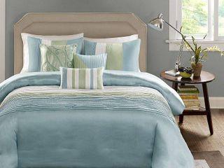 Salem 7 Piece Comforter Set   Green  California King