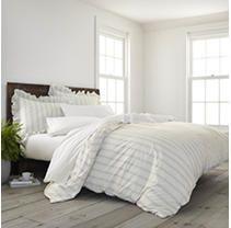 King 3pc Brooke Comfort Wash Comforter Set Gray   EcoPure