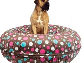 Bessie and Barnie Signature Cake Pop luxury Extra Plush Faux Fur Bagel Pet   Dog Bed  Retail 129 99