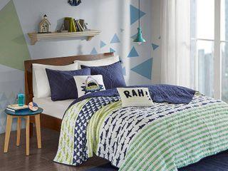 Home Essence Kids luke Shark Printed Cotton Coverlet Bedding Set