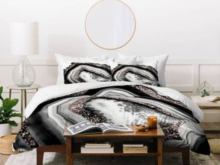 Deny Designs Agate Rose Gold Glam Duvet Cover Set  Retail 164 99