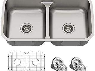 Kraus KBU32 Premier Kitchen Sink Double Bowl  Stainless Stee