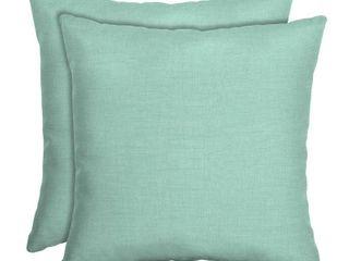 leala Texture Square Outdoor Throw Pillows Aqua   Arden Selections