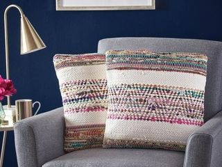 Dover Handcrafted Boho Fabric Pillows  Set of 2  by Christopher Knight Home