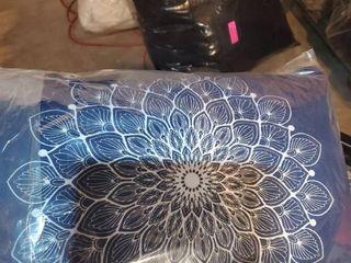 BOHO MANDAlA NAVY lumbar Pillow By Kavka Designs