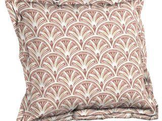 Arden   Artisans Gatsby Deco Geo Double Flange Pillow Back   21 in l x 23 in W x 8 in H