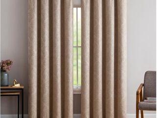 Gracewood Hollow Plakalo Embossed Thermal weaved Blackout Grommet Drapery Curtains