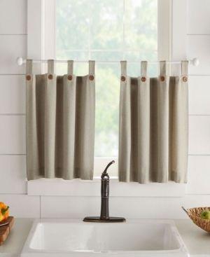Tucker Solid Window Curtain Tier Set  30  x 24  Bedding