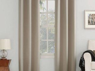 120 x54  Kenneth Energy Saving Blackout Grommet Top Curtain Panel Beige   Sun Zero