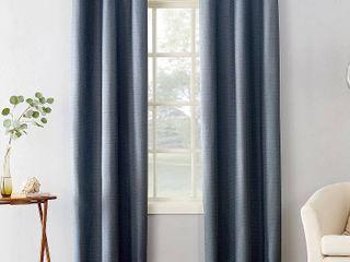 Sun Zero Cooper Textured Thermal lined Room Darkening Energy Efficient Grommet Curtain Panel